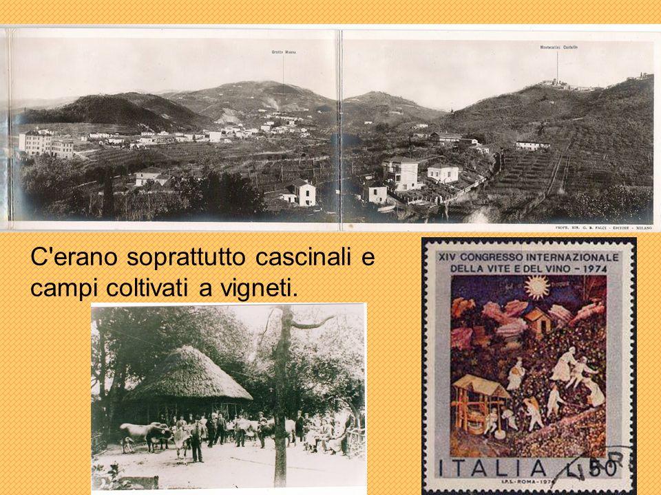 C erano soprattutto cascinali e campi coltivati a vigneti.