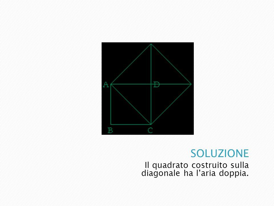 Il quadrato costruito sulla diagonale ha laria doppia.