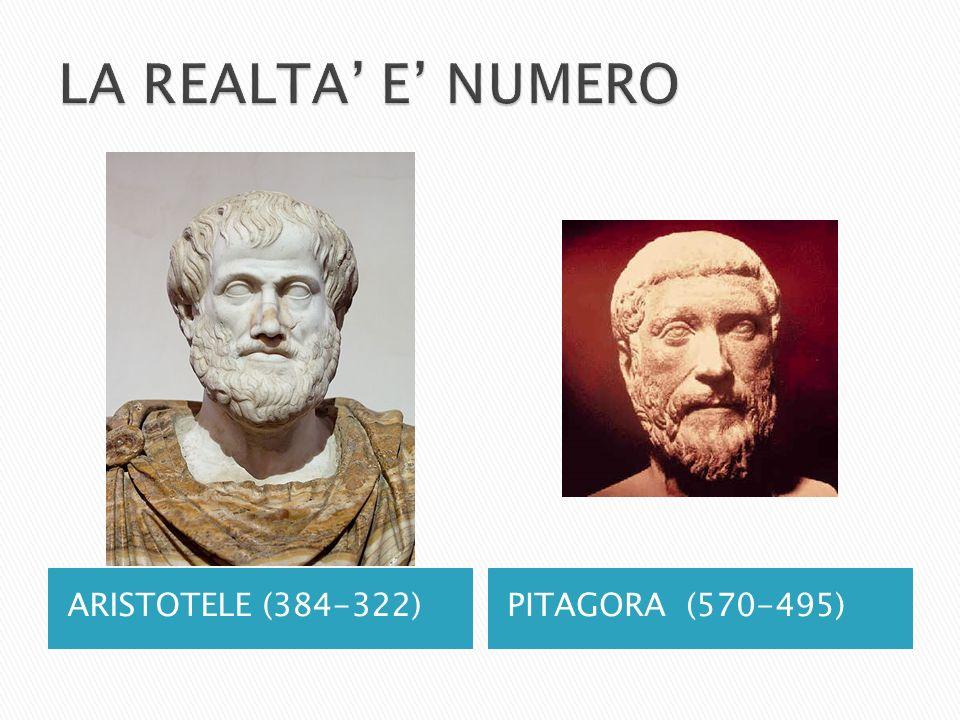 ARISTOTELE (384-322)PITAGORA (570-495)