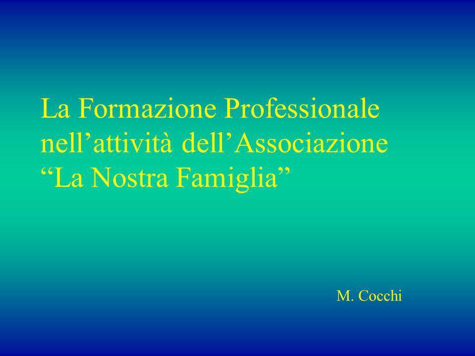 La Formazione Professionale nellattività dellAssociazione La Nostra Famiglia M. Cocchi