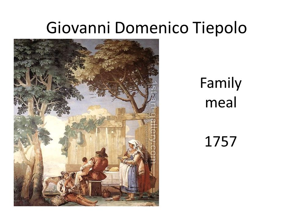 Giovanni Domenico Tiepolo Family meal 1757