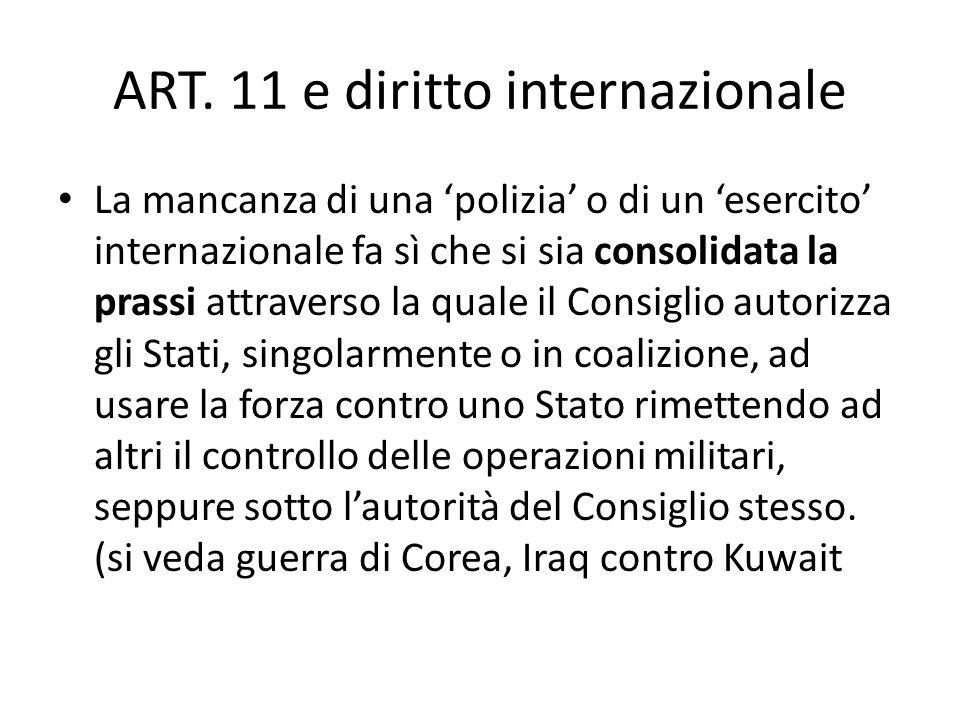 Luso della forza è subordinata al raggiungimento della pace e della sicurezza internazionale e non è una delega al suo uso indiscriminato. Il diritto