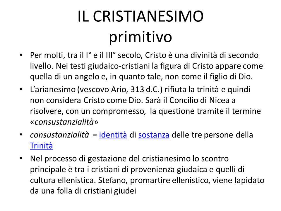 Per molti, tra il I° e il III° secolo, Cristo è una divinità di secondo livello. Nei testi giudaico-cristiani la figura di Cristo appare come quella d
