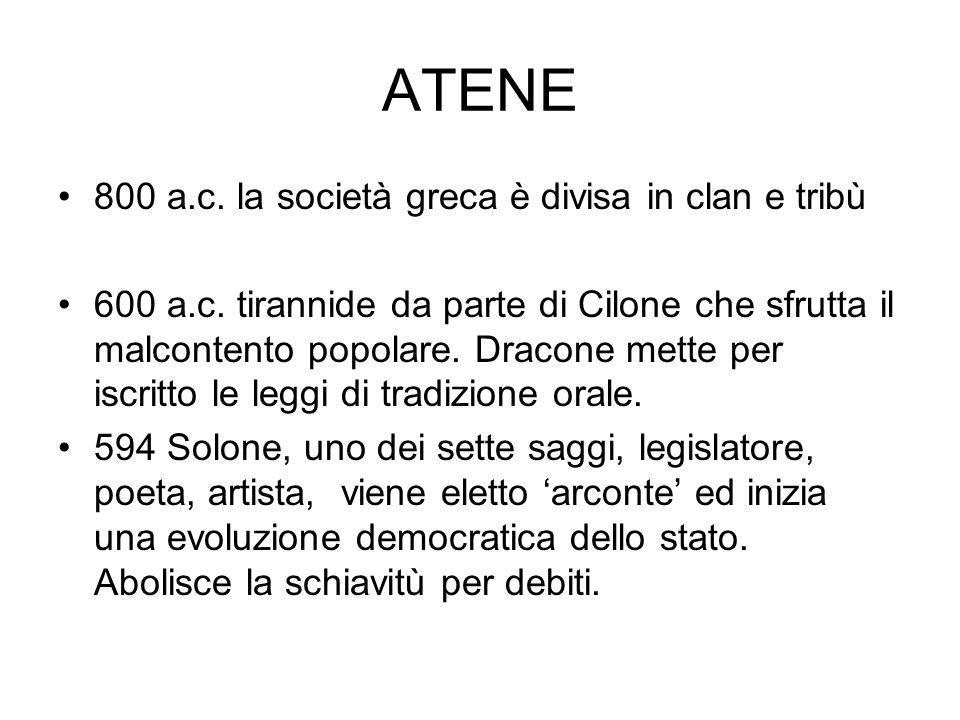 PERICLE discorso agli ateniesi Qui ad Atene noi facciamo così.