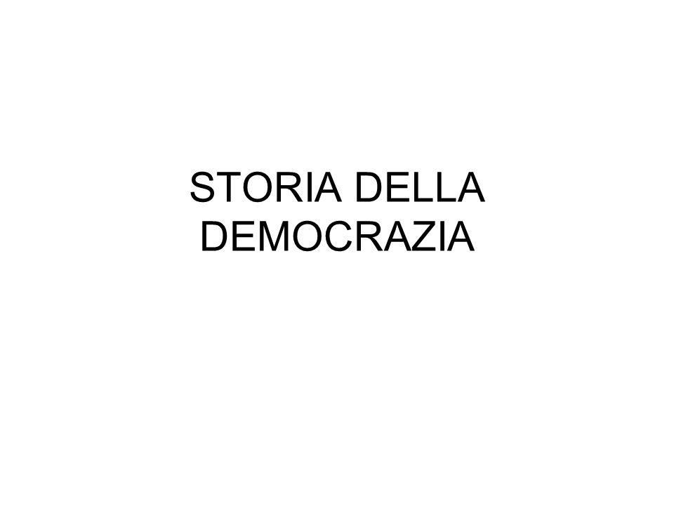 STORIA DELLA DEMOCRAZIA