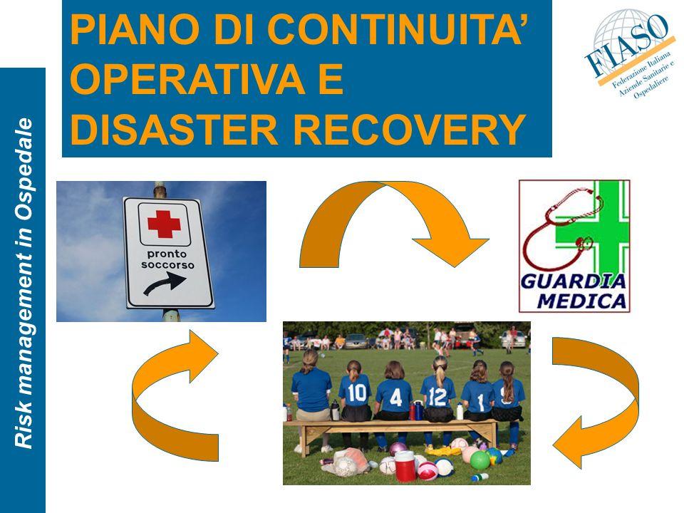 Risk management in Ospedale PIANO DI CONTINUITA OPERATIVA E DISASTER RECOVERY