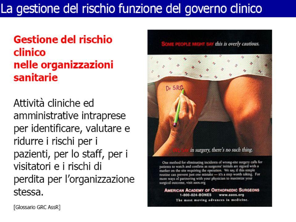 Intesa tra il Governo, le Regioni e le Province autonome di Trento e di Bolzano concernente la gestione del rischio clinico e la sicurezza dei pazienti e delle cure.
