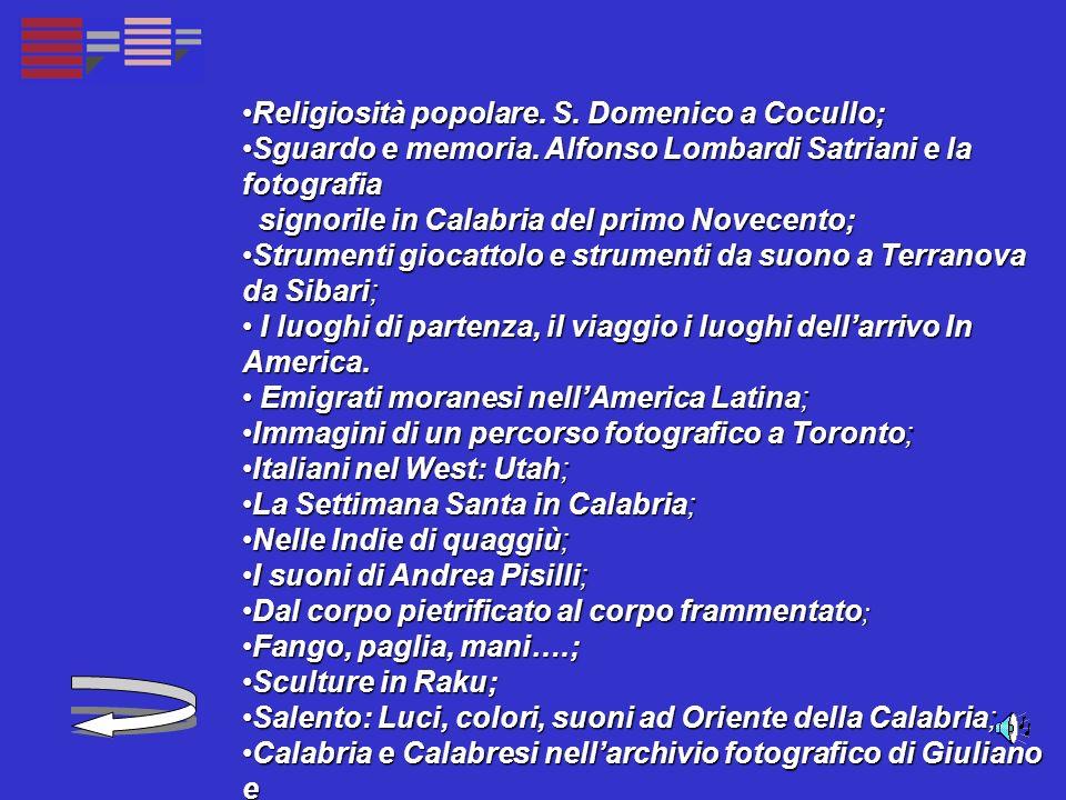 Religiosità popolare. S. Domenico a Cocullo; Religiosità popolare.