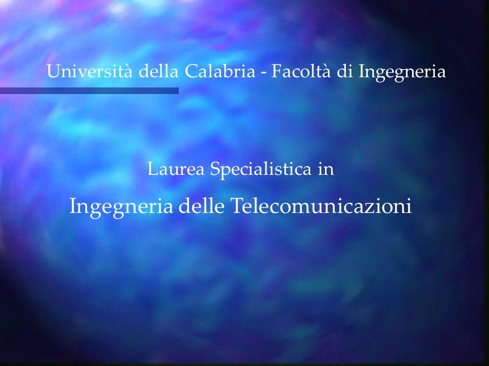 Laurea Specialistica in Ingegneria delle Telecomunicazioni Università della Calabria - Facoltà di Ingegneria