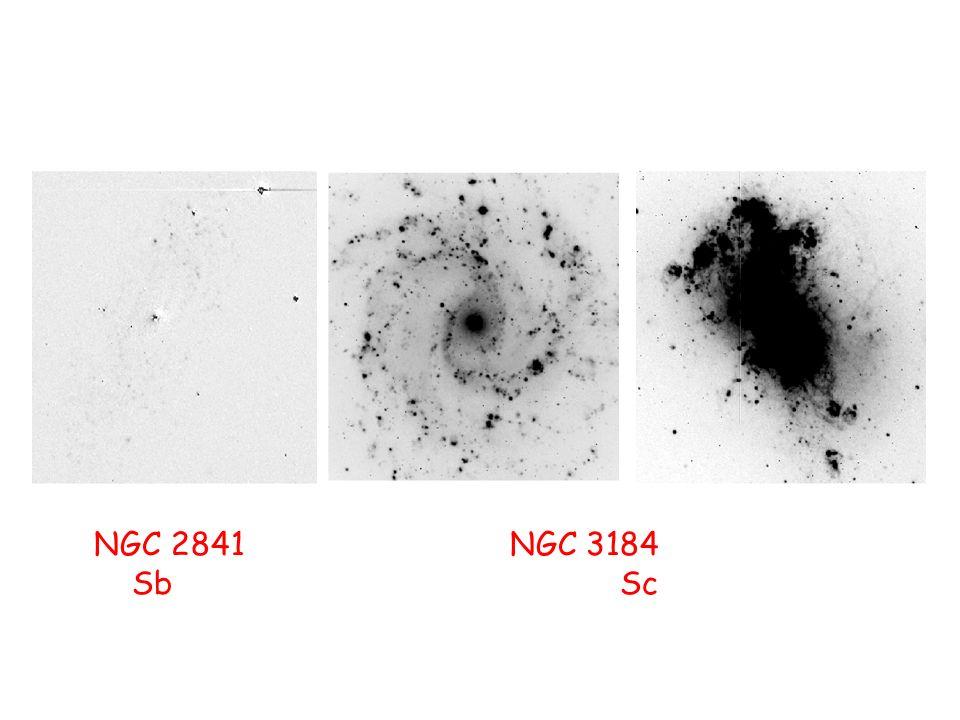 NGC 2841 NGC 3184 NGC 4449 Sb Sc Irr