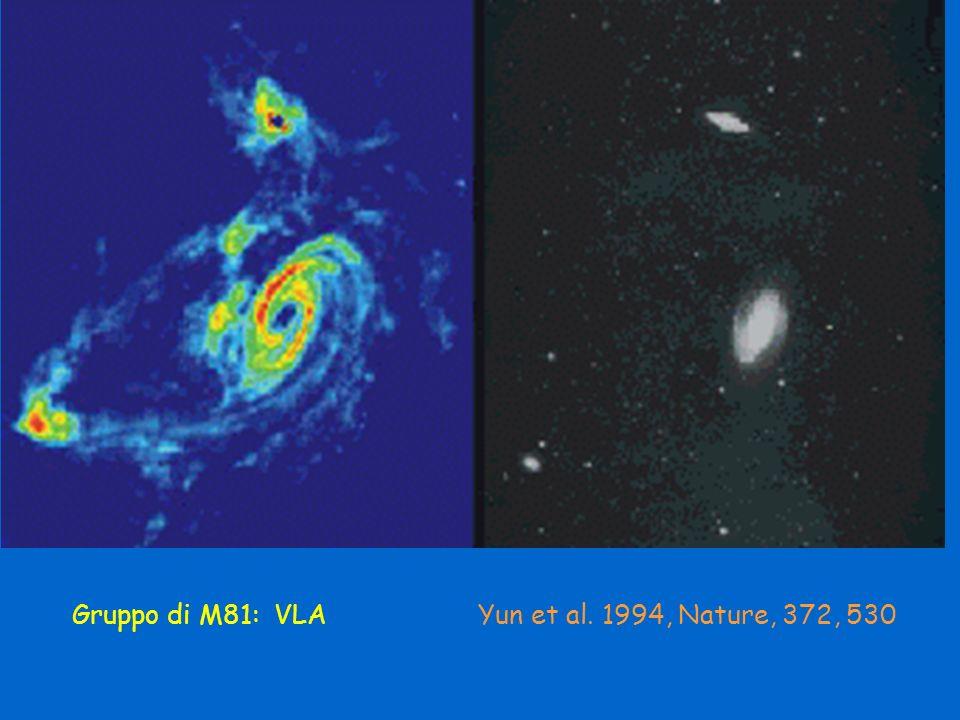 Gruppo di M81: VLA Yun et al. 1994, Nature, 372, 530