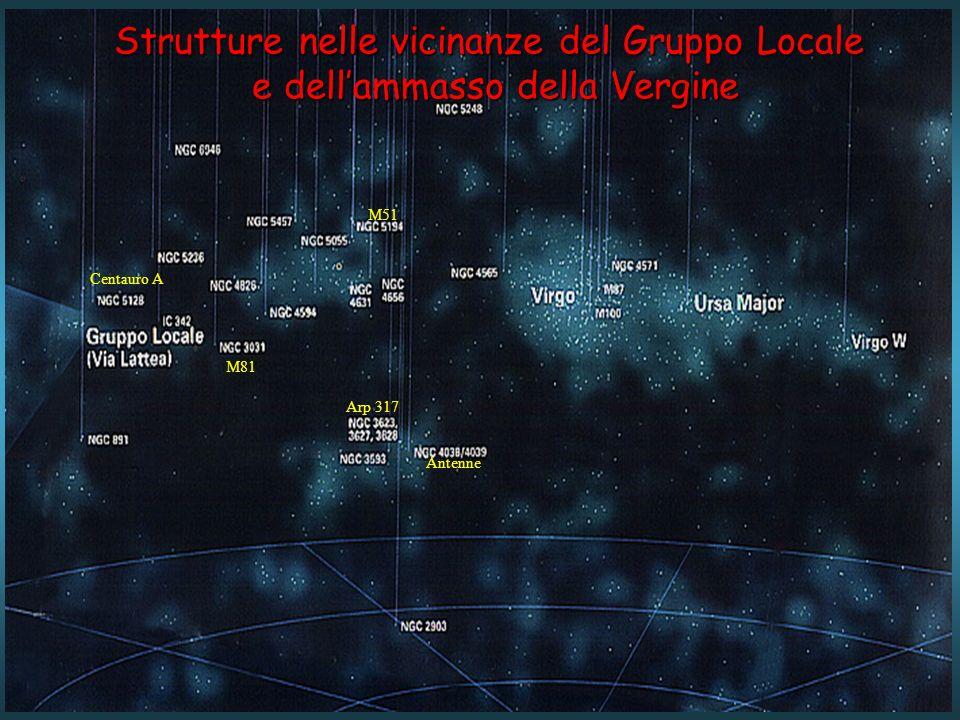 Strutture nelle vicinanze del Gruppo Locale e dellammasso della Vergine Antenne Centauro A M81 Arp 317 M51