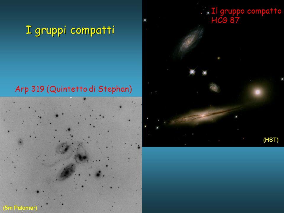 Il gruppo compatto HCG 87 I gruppi compatti Arp 319 (Quintetto di Stephan) (HST) (5m Palomar)