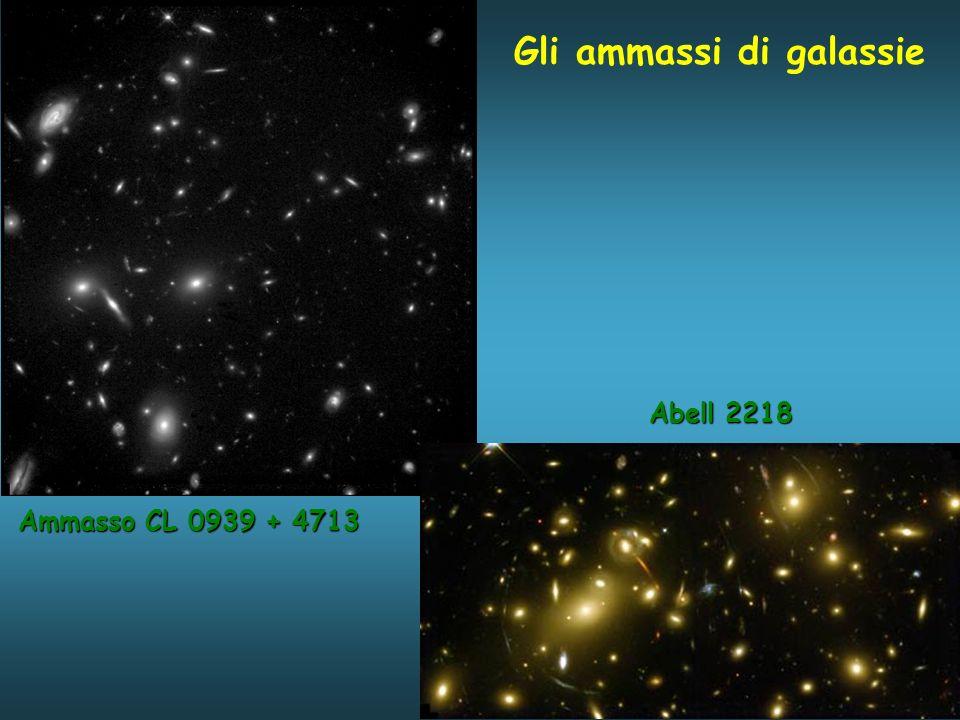 Gli ammassi di galassie Ammasso CL 0939 + 4713 Abell 2218