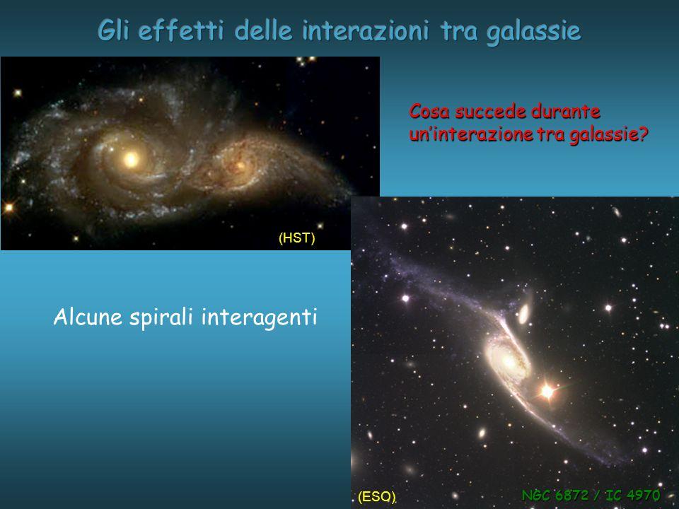 Alcune spirali interagenti Cosa succede durante uninterazione tra galassie.
