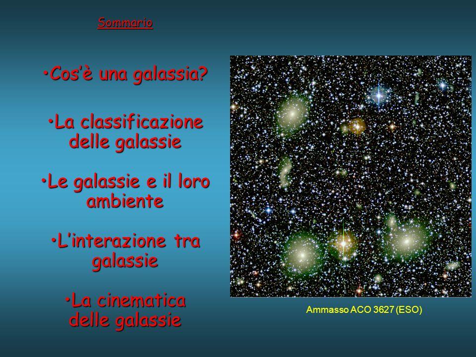 Sommario Cosè una galassia?Cosè una galassia.