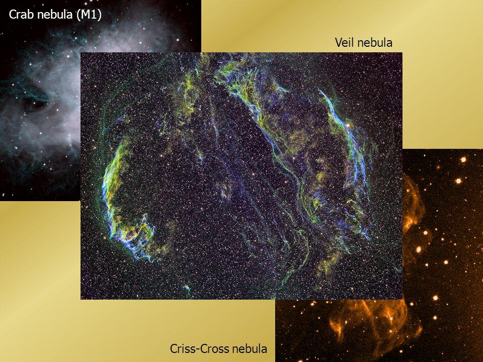Crab nebula (M1) Veil nebula Criss-Cross nebula