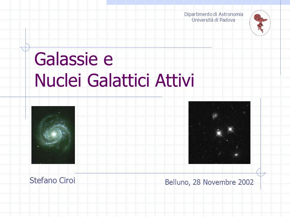Galassie e Nuclei Galattici Attivi Belluno, 28 Novembre 2002 Dipartimento di Astronomia Università di Padova Stefano Ciroi