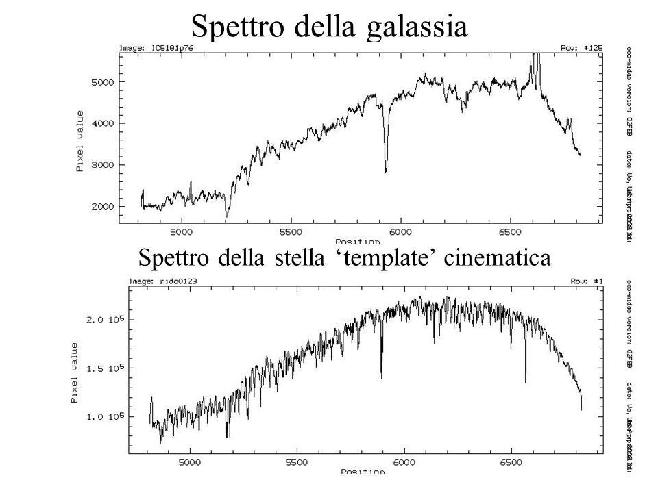 34 Spettro della galassia Spettro della stella template cinematica