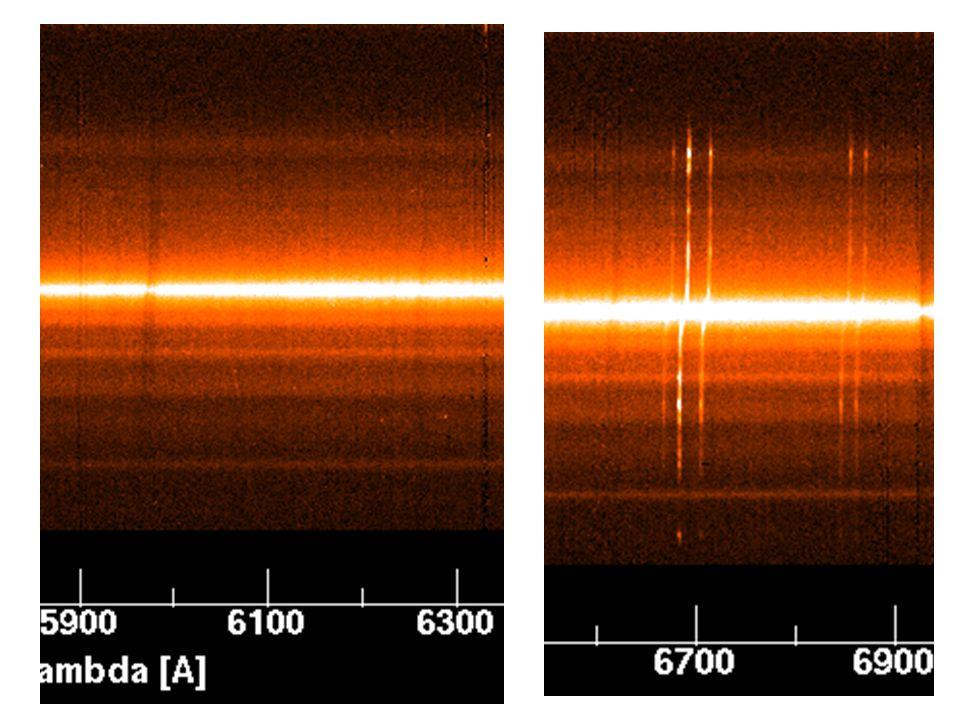 59 Confronto tra lo spettro stellare prima e dopo la convoluzione