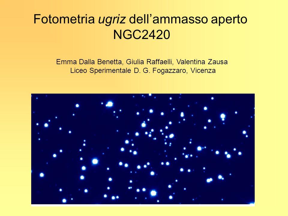 Fotometria ugriz dellammasso aperto NGC2420 Emma Dalla Benetta, Giulia Raffaelli, Valentina Zausa Liceo Sperimentale D. G. Fogazzaro, Vicenza