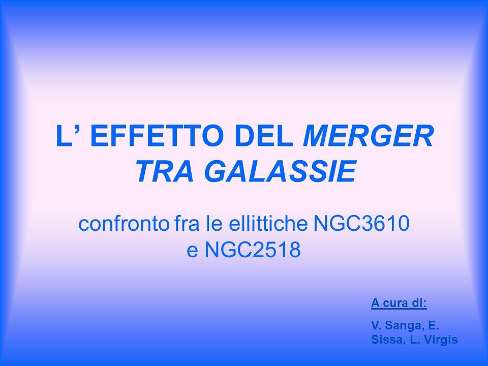 L EFFETTO DEL MERGER TRA GALASSIE confronto fra le ellittiche NGC3610 e NGC2518 A cura di: V. Sanga, E. Sissa, L. Virgis