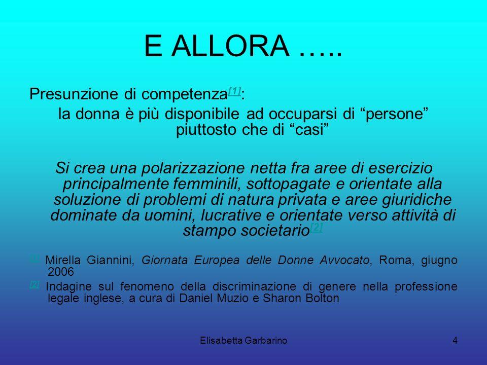 Elisabetta Garbarino4 E ALLORA …..