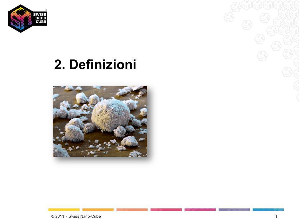 © 2011 - Swiss Nano-Cube Cosa sono le nanotecnologie.