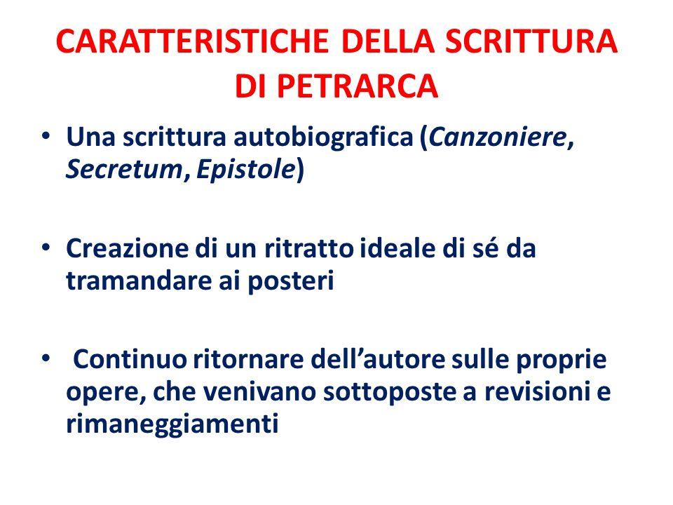 Il Secretum ( De secreto conflictu curarum mearum)