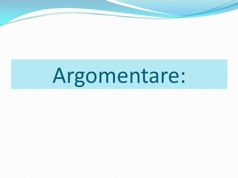 Argomentare: