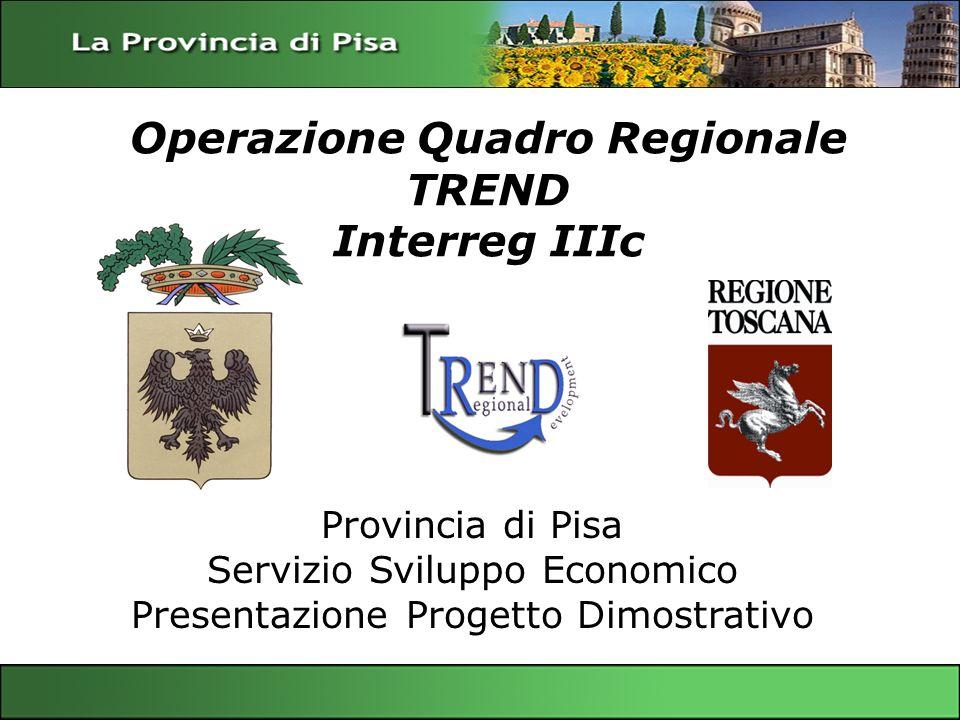 Operazione Quadro Regionale TREND Interreg IIIc Servizio Sviluppo Economico – Provincia di Pisa Gianfrancesco Sangiovanni Provincia di Pisa Servizio S