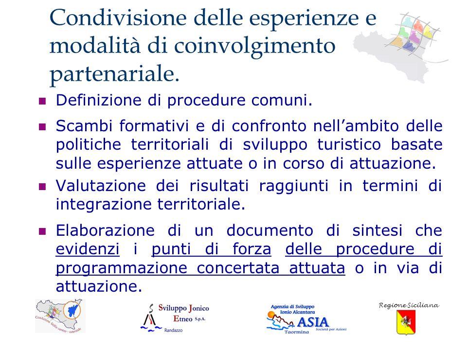 Risultati attesi del progetto Condivisione e scambio delle esperienze di governance attuate nei territori di riferimento, finalizzata alla costituzione di relazioni anche per altri futuri ambiti di attuazione.
