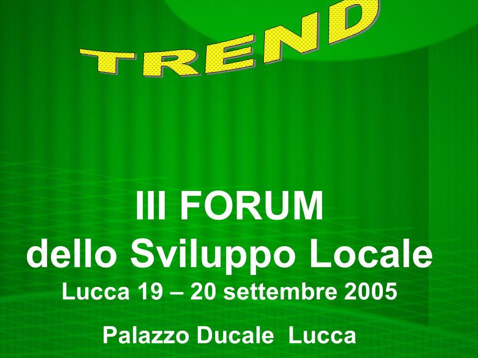 III FORUM dello Sviluppo Locale Lucca 19 – 20 settembre 2005 Palazzo Ducale Lucca