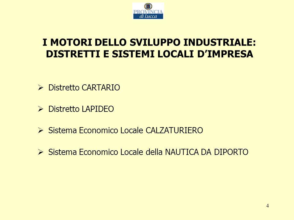 5 DISTRETTO CARTARIO Produzione (dati 2003)