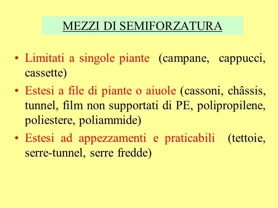 CLASSIFICAZIONE IN BASE ALLA TOLLERANZA ALLA SALINITA espressa come conducibilità elettrica dellestratto saturo in dS/m (= 1 mmho/cm = 640 mg di sali/l) SENSIBILI (1-1.2 dS/m): fagiolino, carota, fragola, cipolla, rapa, ravanello MODERATAMENTE SENSIBILI (1.3-3.2 dS/m): lattuga, peperone, fava, patata, cavolo cappuccio, sedano, spinacio, melone, cetriolo, melanzana, pomodoro, carciofo, cavolo broccolo, zucca MODERATAMENTE TOLLERANTI (4-5.8 dS/m): bietola da orto, zucchino, cavoli da foglia, asparago