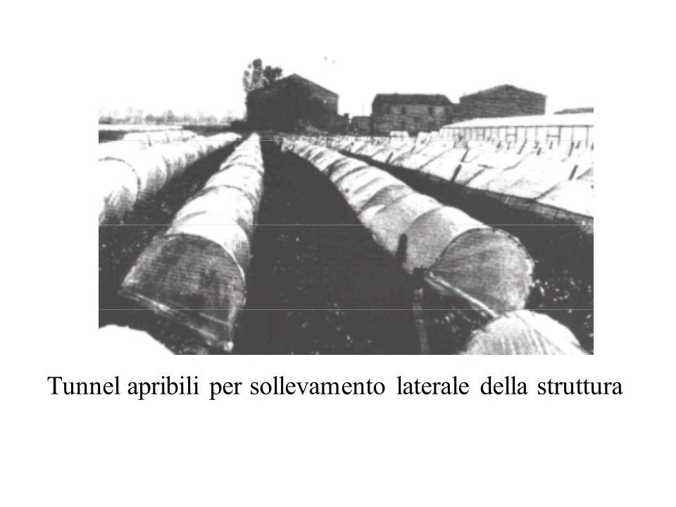 Tunnel apribili per sollevamento laterale della struttura