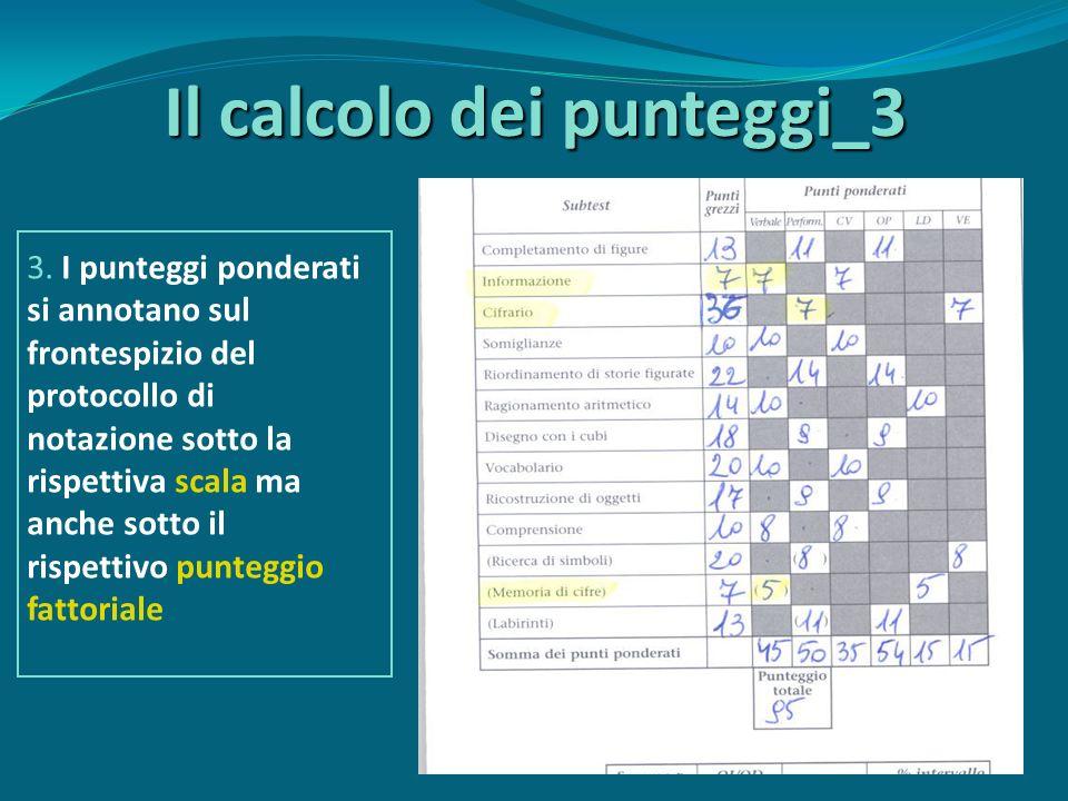 Il calcolo dei punteggi_3 3.