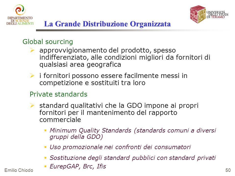 Emilio Chiodo 50 Global sourcing approvvigionamento del prodotto, spesso indifferenziato, alle condizioni migliori da fornitori di qualsiasi area geog
