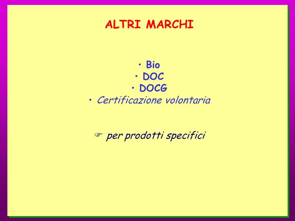 ALTRI MARCHI Bio DOC DOCG Certificazione volontaria per prodotti specifici