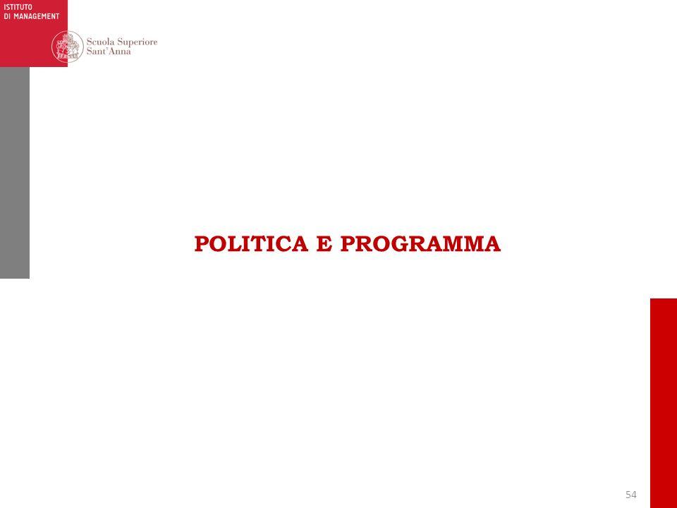 54 POLITICA E PROGRAMMA