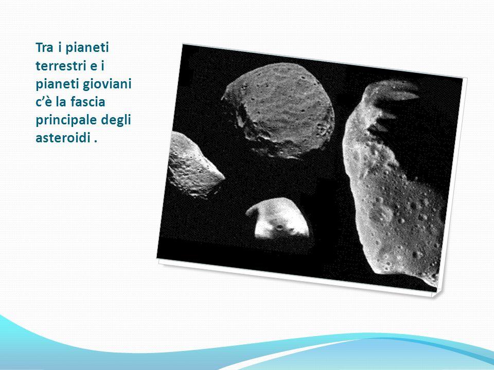 Tra i pianeti terrestri e i pianeti gioviani cè la fascia principale degli asteroidi.