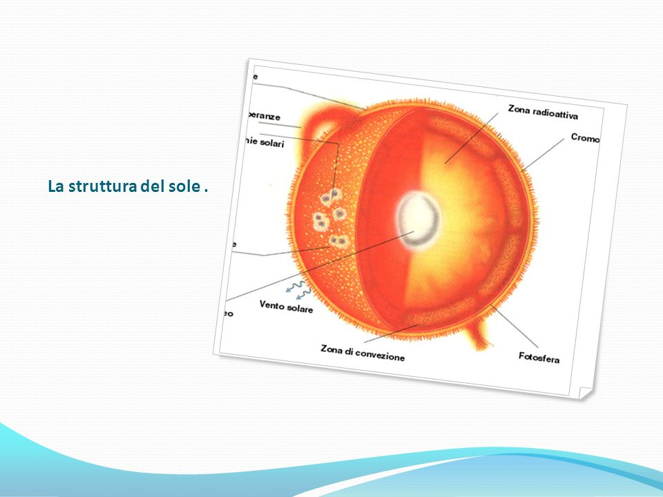 La struttura del sole.
