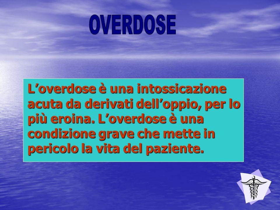 Loverdose è una intossicazione acuta da derivati delloppio, per lo più eroina.