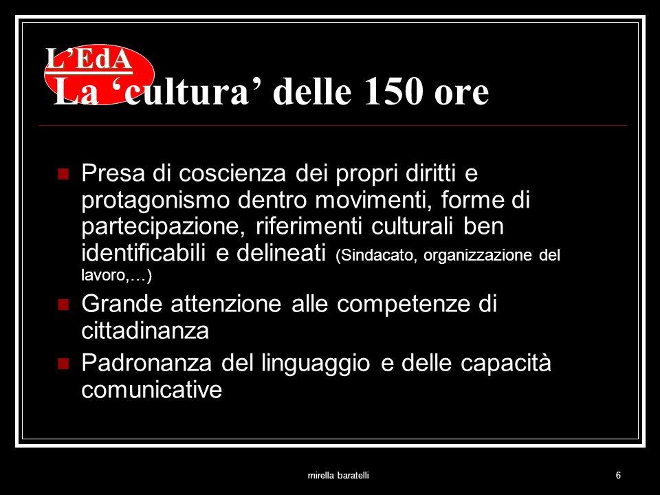 mirella baratelli7 LEdA LEdA La cultura delle 150 ore Il problema degli altri è uguale al tuo.