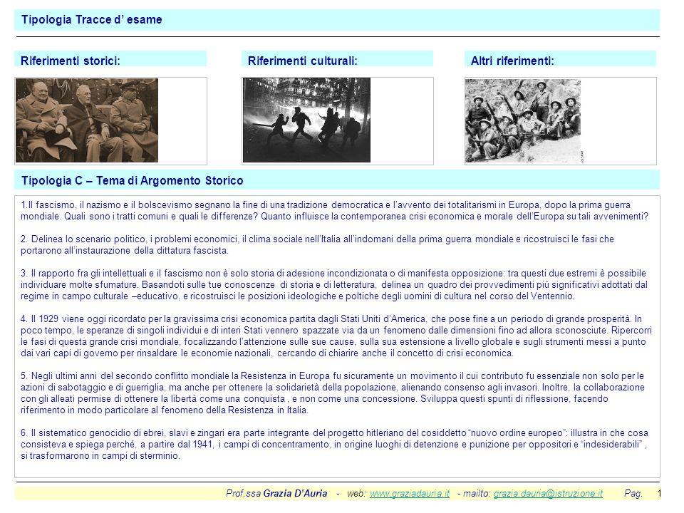 Prof.ssa Grazia DAuria - web: www.graziadauria.it - mailto: grazia.dauria@istruzione.it Pag. 1www.graziadauria.itgrazia.dauria@istruzione.it Tipologia