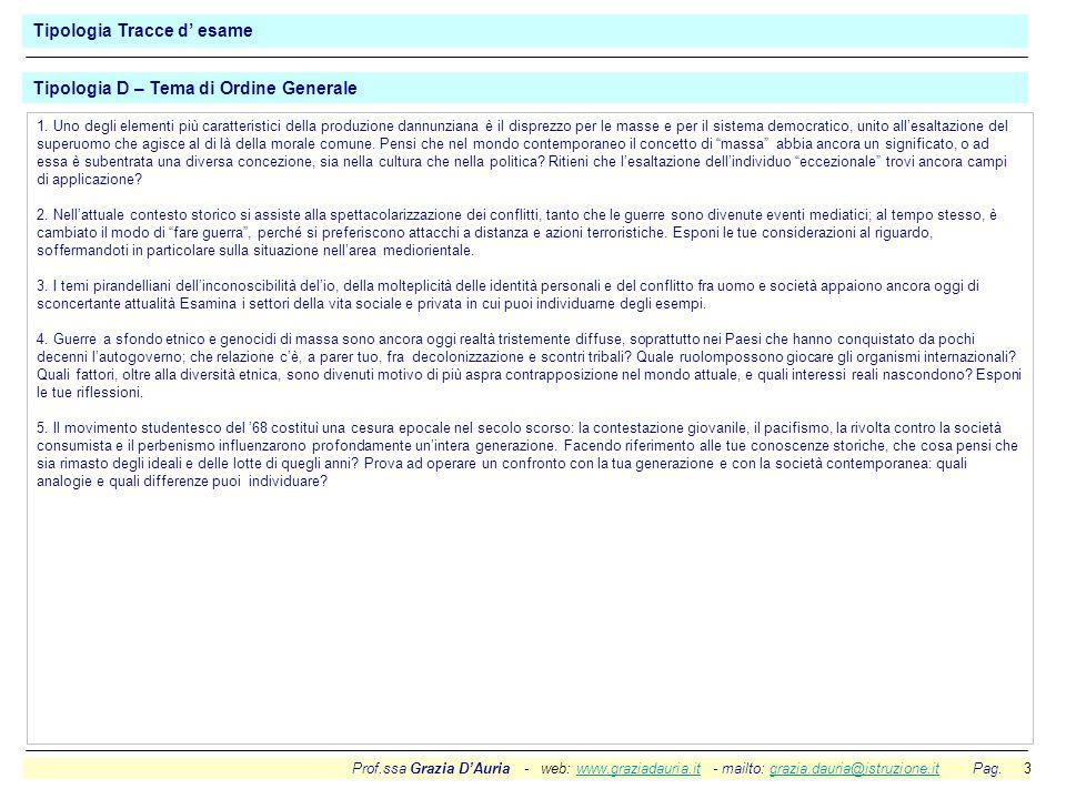 Prof.ssa Grazia DAuria - web: www.graziadauria.it - mailto: grazia.dauria@istruzione.it Pag. 3www.graziadauria.itgrazia.dauria@istruzione.it 1. Uno de