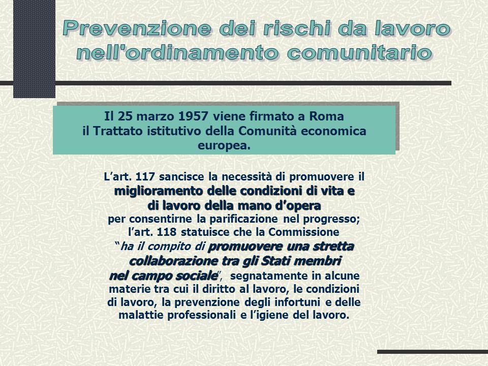 Lart. 117 sancisce la necessità di promuovere il miglioramento delle condizioni di vita e di lavoro della mano dopera per consentirne la parificazione