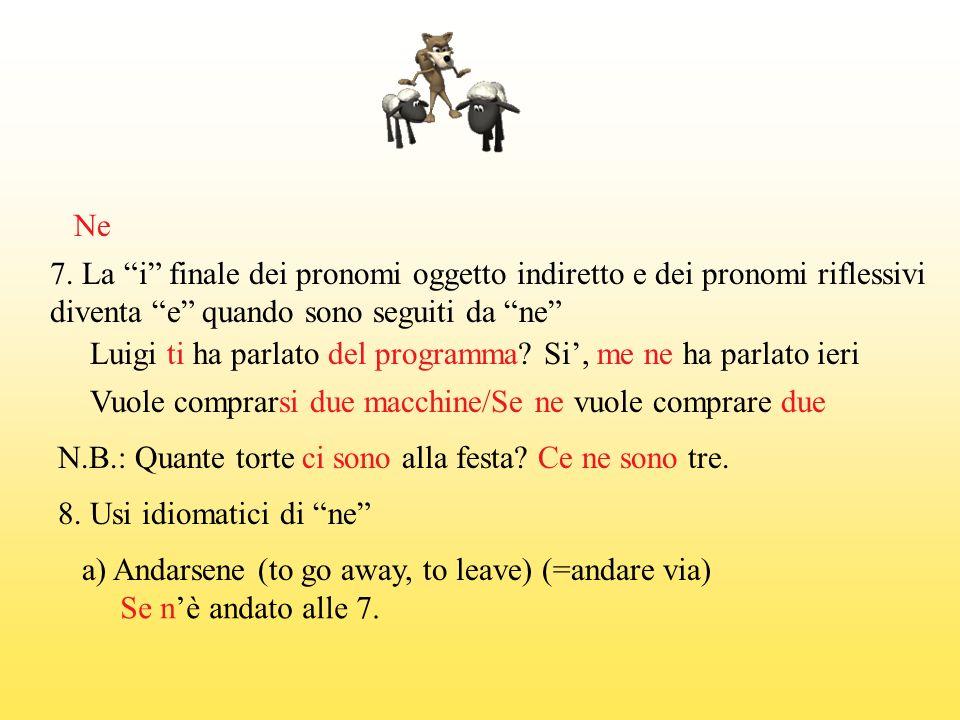 NE b) Non volerne sapere di qualcuno (qualcosa) (to want nothing to do with someone/something) La grammatica italiana.