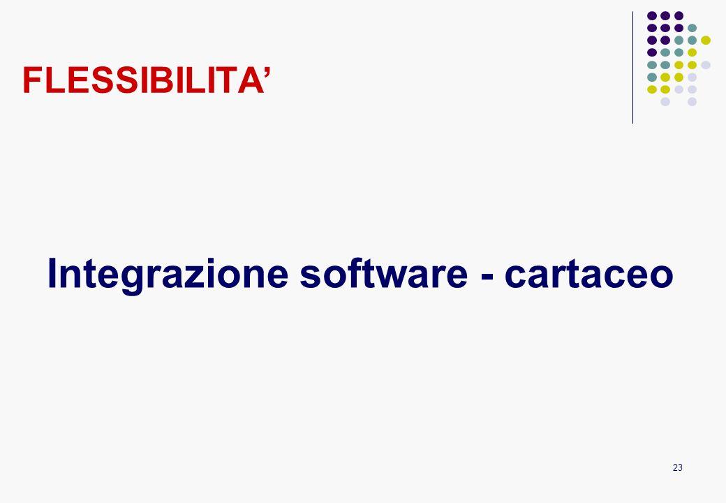 23 FLESSIBILITA Integrazione software - cartaceo