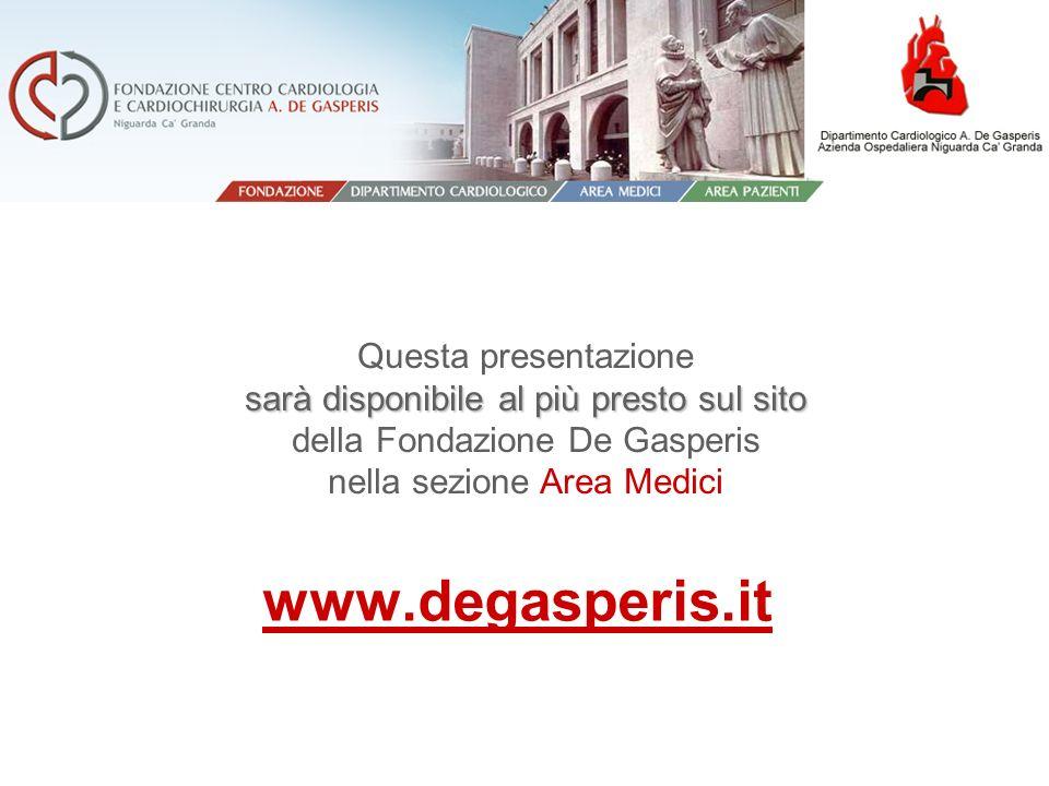 sarà disponibile al più presto sul sito Questa presentazione sarà disponibile al più presto sul sito della Fondazione De Gasperis nella sezione Area M
